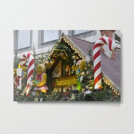Candy Stick Xmas Metal Print
