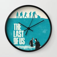 the last of us Wall Clocks featuring The Last Of Us by Bill Pyle