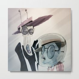 A couple of crazy wackos. Metal Print