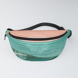 Ocean Moon Orange Fanny Pack