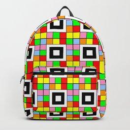 optical pattern 36 multicolor Backpack