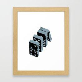 Domino theory Framed Art Print
