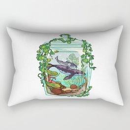 Whale Plant Terrarium Rectangular Pillow