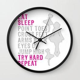 Eat Sleep Gymnastics Irish Dance alt on white Wall Clock