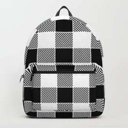 Buffalo Check - black / white Backpack