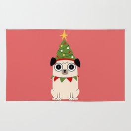 It's Christmas for Pug's Sake Rug
