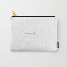 BITCHCRAFT 565 Watercolor Map Yoga Quote Definitio Carry-All Pouch