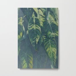 Green leaves watercolor painting #1 Metal Print