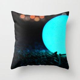 Light and Focus (Blue) Throw Pillow