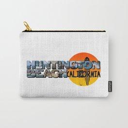 Huntington Beach California Big Letter with Sun Carry-All Pouch