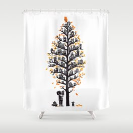 Hoot Lodge Shower Curtain