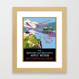 Vintage poster - Yangtsze Gorges Framed Art Print