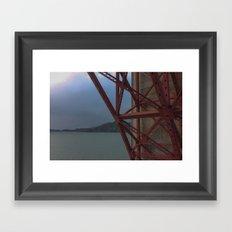 Golden Gate Geometry 1 Framed Art Print