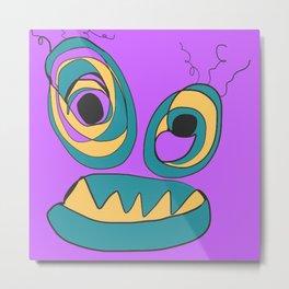 Purple Crazy Eyes Metal Print
