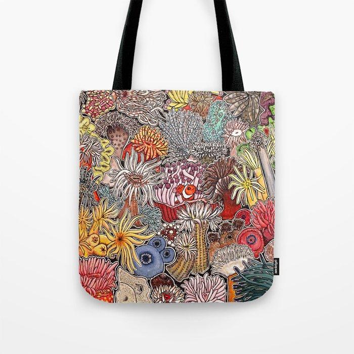 Clown fish and Sea anemones Tote Bag