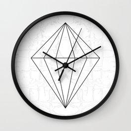 Diamond Linework | Abstract Marble Wall Clock