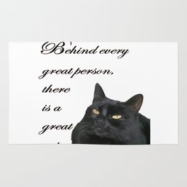 Behind Every Great Person There Is A Great Cat Rug
