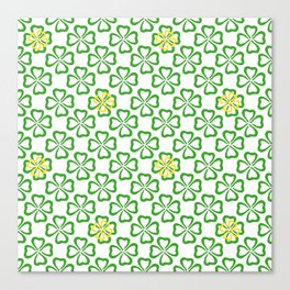 Clover Leaves Pattern Canvas Print