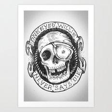 One Eyed Willie Art Print