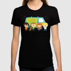 Little scooby characters Black MEDIUM Womens Fitted Tee