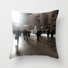 Early Morning, Grand Central Throw Pillow