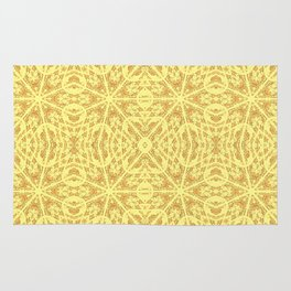 Golden Pineapple Orange Unusual Rose Swirl Pattern #6 Rug