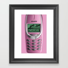 OLD NOKIA Pink Framed Art Print