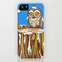 Snowflake the Owl iPhone Case