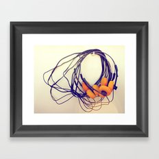 THE MUSICAL BUZZ Framed Art Print