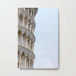 Leaning Tower of Pisa Metal Print