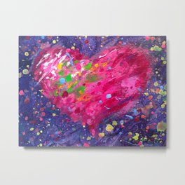 Playful Heart Metal Print