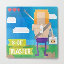 8-bit blaster Metal Print