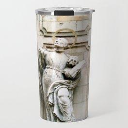 Statue of Jesuit Saint Francis Borgi Travel Mug