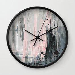 Soft Pink Abstract Wall Clock