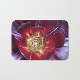 Red Succulent Bath Mat