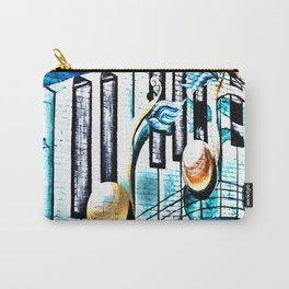 Deep Ellum Music Note Mural - Surreal Carry-All Pouch