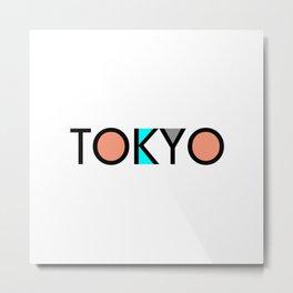 Tokyo Typo Metal Print