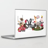 ohio state Laptop & iPad Skins featuring Ohio State Love by Sara Riedel