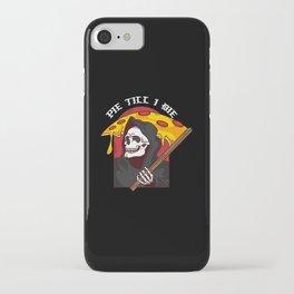 Mens Pie Till I Die Shirt Funny Pizza T-Shirt I Grim Reaper Pizza Pie Till I Die Shirt iPhone Case