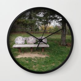 Chase's Bench Wall Clock