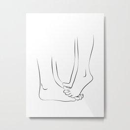 orteils tippy- Couple Kissing Printable | Romantic Art Print,Simple Minimalist Metal Print