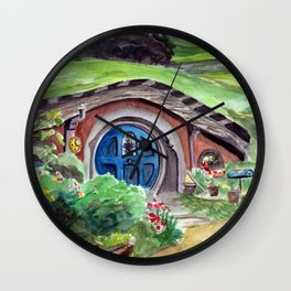 Cozy Little Dwelling Wall Clock