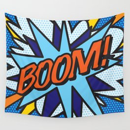 Comic Book BOOM Wall Tapestry