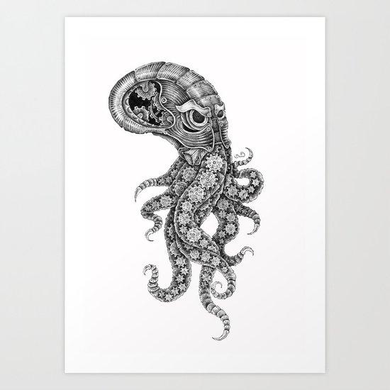 clockwork octopus Art Print