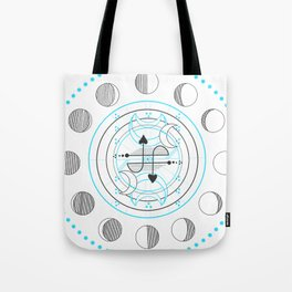 Sawyer's Lenormand Moon phases Tote Bag