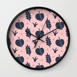 Botanical Pattern Wall Clock