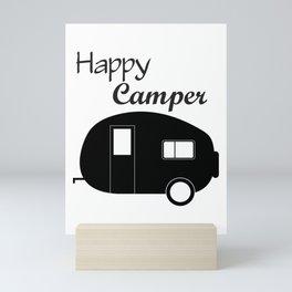 Cute Camping Shirt, Cute Happy Camper Design, Happy Camper shirt for women, Cute Mom Camping Shirt, Mini Art Print