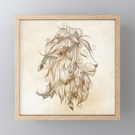 Poetic Lion Framed Mini Art Print