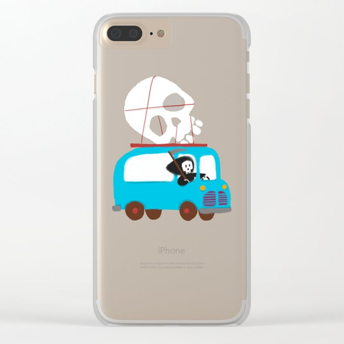 Death on wheels Clear iPhone Case