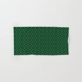 Emerald Green Diamond Pattern Hand & Bath Towel